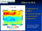 effect on sla