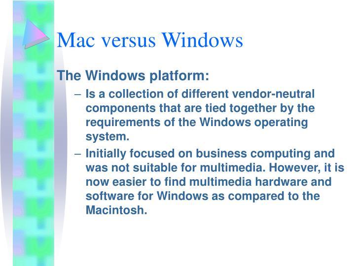 Mac versus Windows