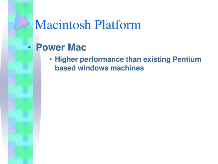 Macintosh Platform