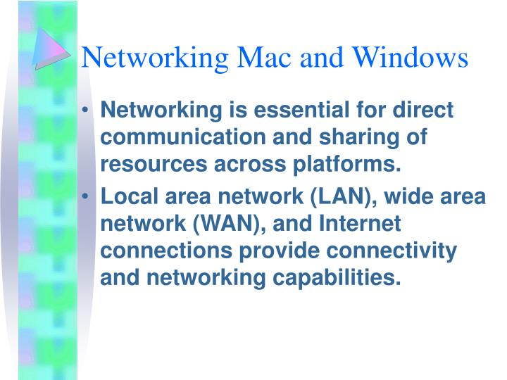 Networking Mac and Windows