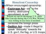 homefront censorship