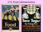 u s food administration