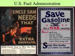 u s fuel administration