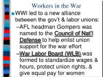 workers in the war