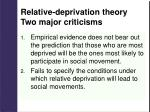 relative deprivation theory two major criticisms
