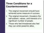 three conditions for a countermovement