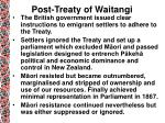 post treaty of waitangi