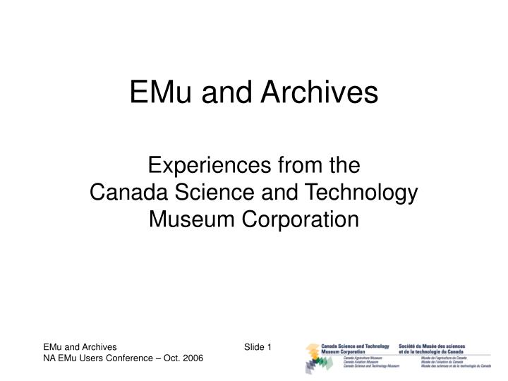 emu and archives n.