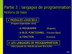 partie 3 langages de programmation notions de base