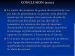 conclusion suite1