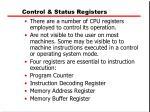 control status registers