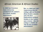 african american african studies