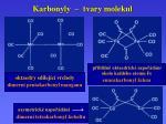 karbonyly tvary molekul1