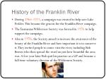history of the franklin river