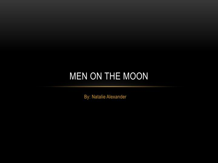 men on the moon n.