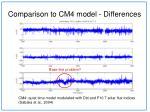 comparison to cm4 model differences