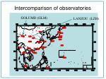 intercomparison of observatories2