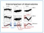 intercomparison of observatories5