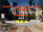 national taichung university of education thank you q a