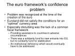 the euro framework s confidence problem