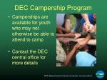 dec campership program