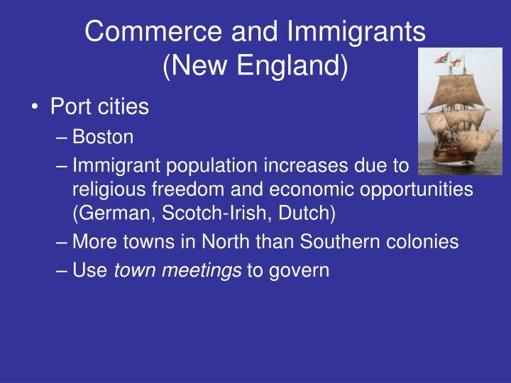 Commerce and Immigrants