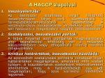 a haccp alapelvei
