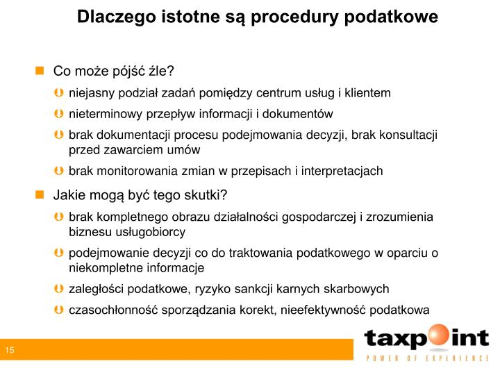 Dlaczego istotne są procedury podatkowe