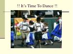 it s time to dance