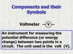 components and their symbols6