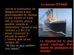 le navire titanic