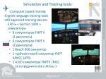 simulation and training tools