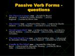 passive verb forms questions1