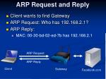 arp request and reply