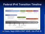 federal ipv6 transition timeline
