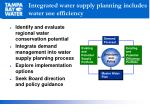 integrated water supply planning includes water use efficiency
