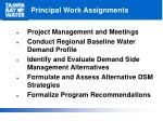 principal work assignments