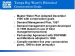 tampa bay water s historical conservation goals