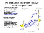 the probabilistic approach to nwp ensemble prediction