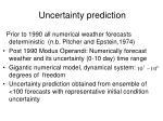 uncertainty prediction
