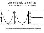 use ensemble to minimize cost function j 1 d slices