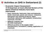 activities on ghs in switzerland 2