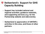 switzerland s support for ghs capacity building1