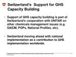 switzerland s support for ghs capacity building2