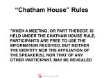 chatham house rules