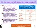 5 can urban poor afford motorized urban transport