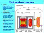 fast neutron reactors