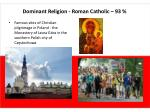 dominant religion roman catholic 93