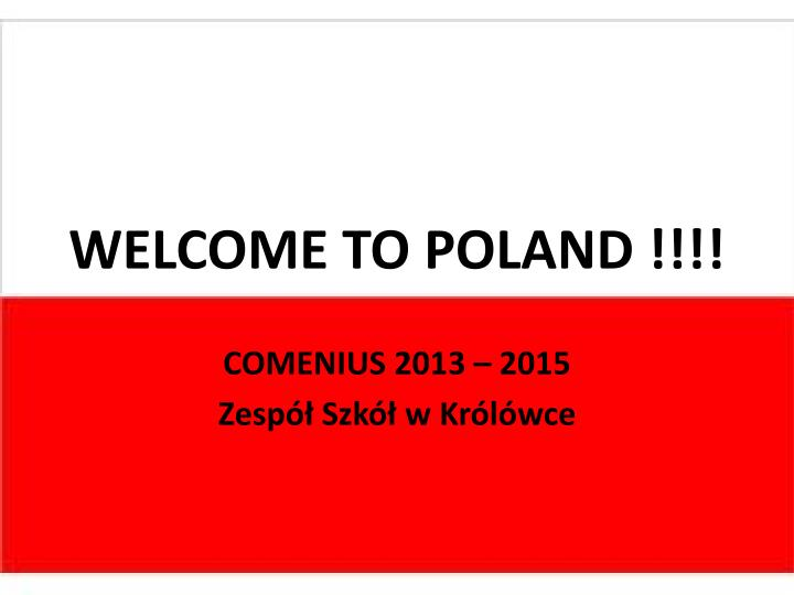 welcome to poland n.