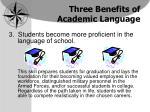 three benefits of academic language1